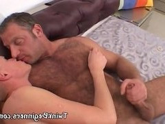Older guy fucks hot blonde dude anally