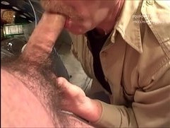 Hairy Uncut Cameraman Bear Gets Blown by Horny Daddies