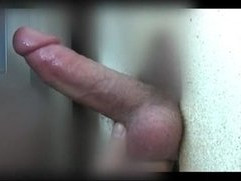 Sucking his cock at glory hole