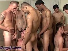 Boy cumshot amateur movie gay first time Team Bukkake!