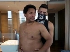 Masked Latin Thug Fucks Black Dad