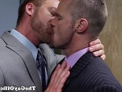 Suited gay assfucked hunky colleagues asshole