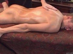 Boy goes full chub as oil is applied